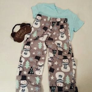 Soft and fuzzy PJ pants.